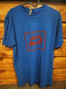 T SHIRT PUSH  - BLUE - LOGO ROUGE - TAILLE LARGE